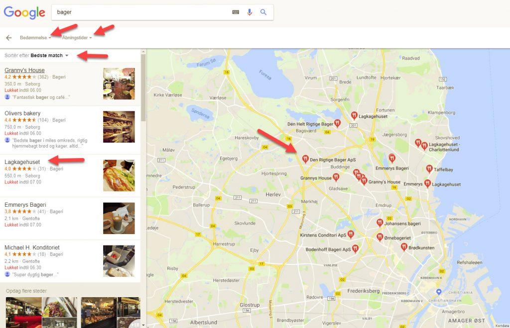 Se alle butikker i nærheden af dig med Google Maps
