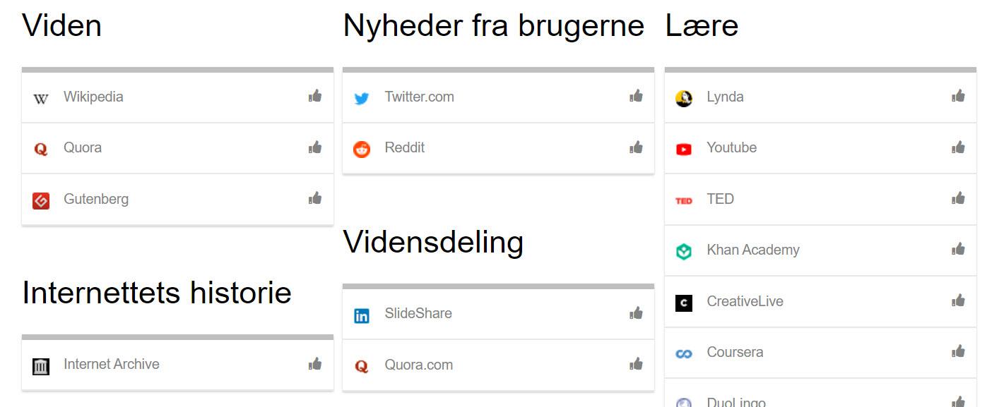 Anbefalede links - Anbefalinger.dk